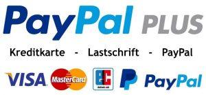 Mit Kreditkarte oder Lastschrift bezahlen.